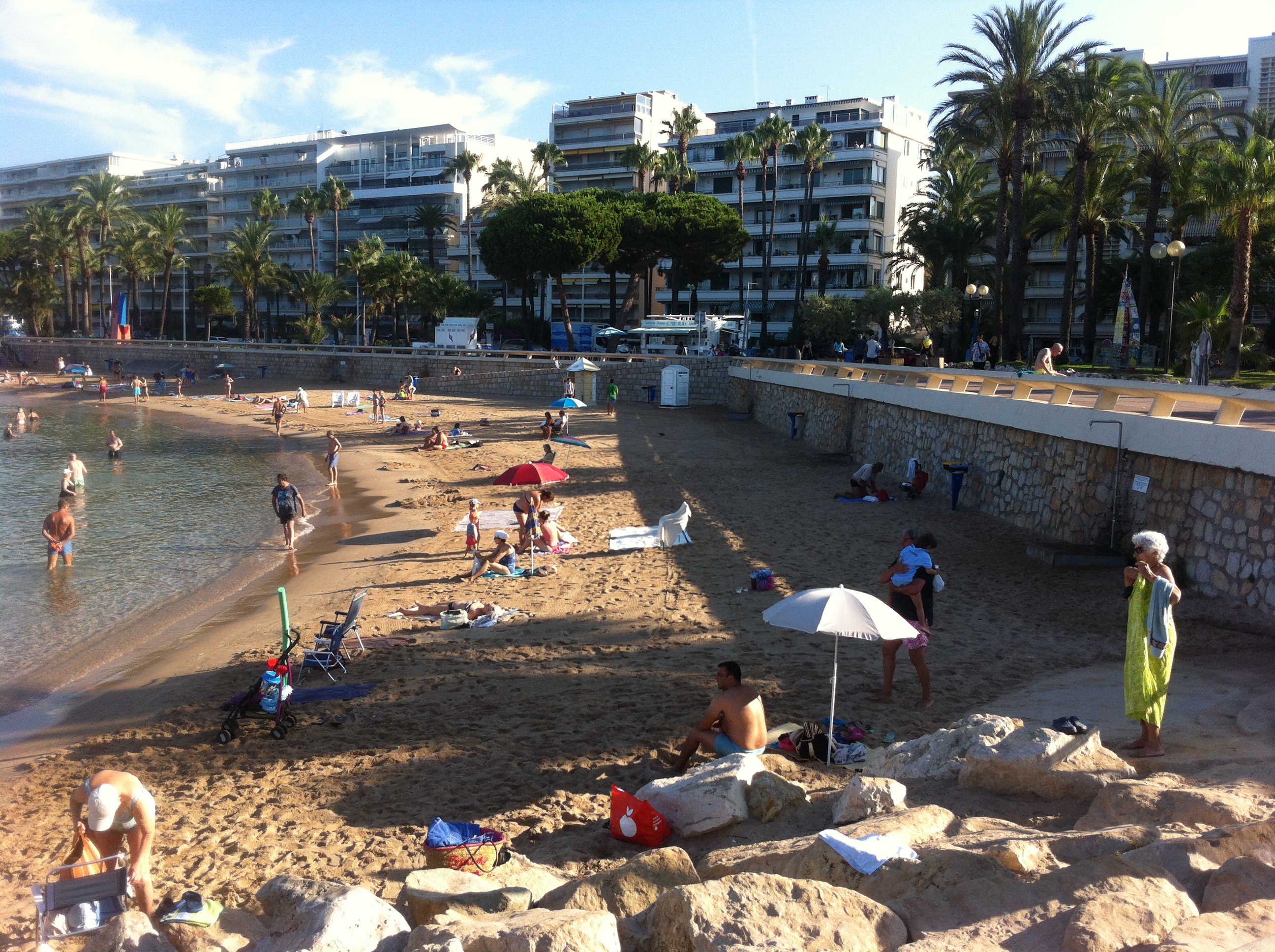 Early morning bathers on Cannes beach july 2016 Paul Conneally (haibun haiku Little Onion)