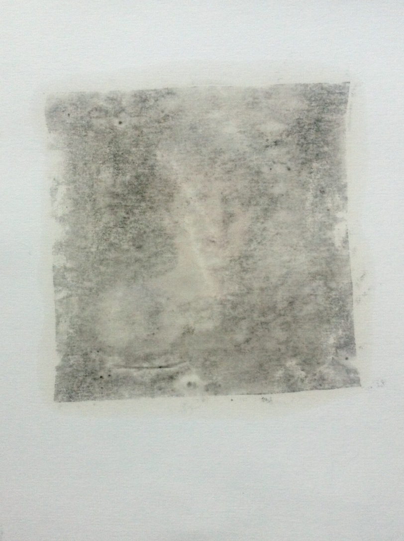 Monoprint by artist Paul Conneally of Theresa May - Rape Seed Oil Print