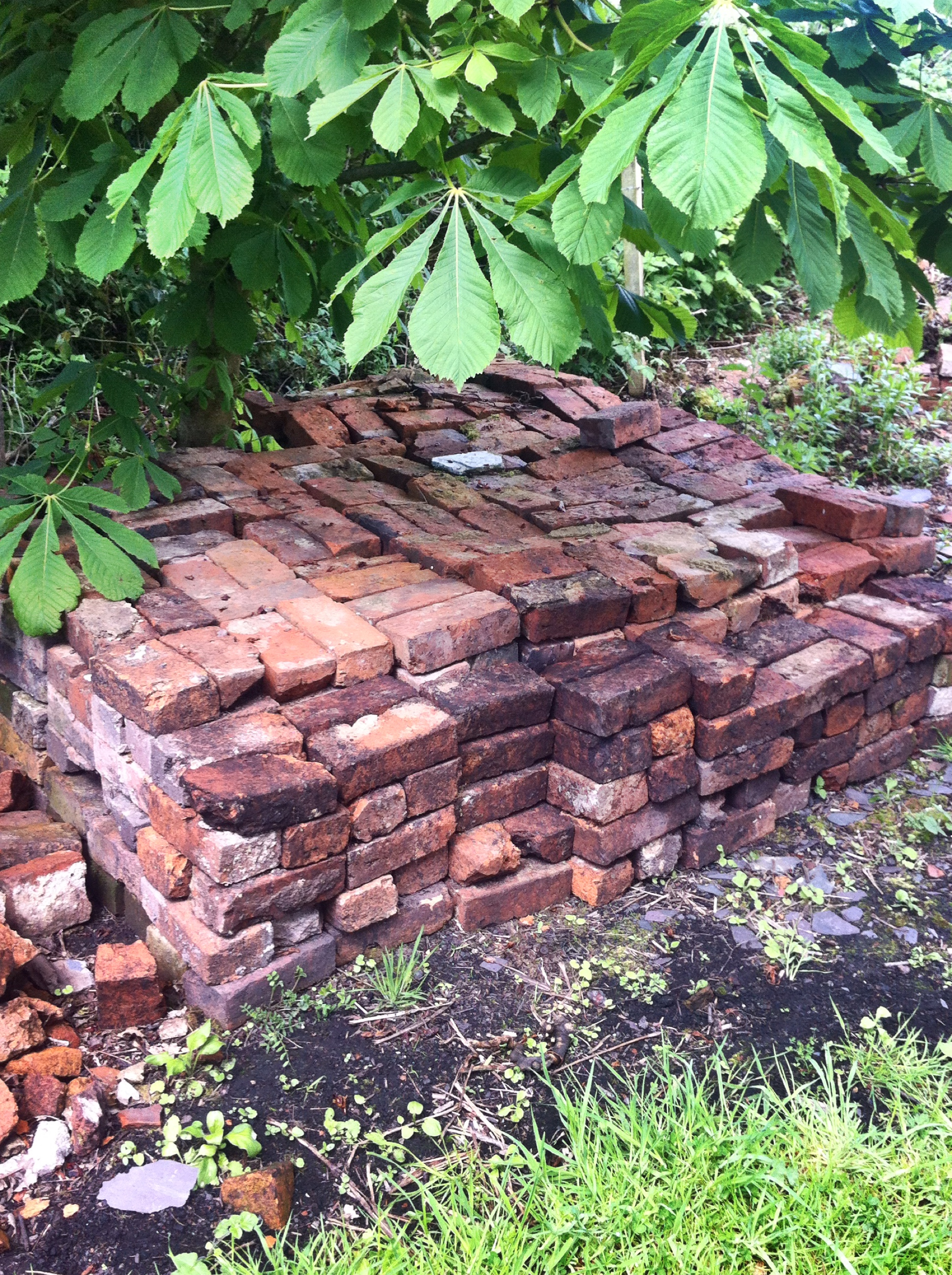 A pile of bricks represented as a memorial by artist Paul Conneally 2017