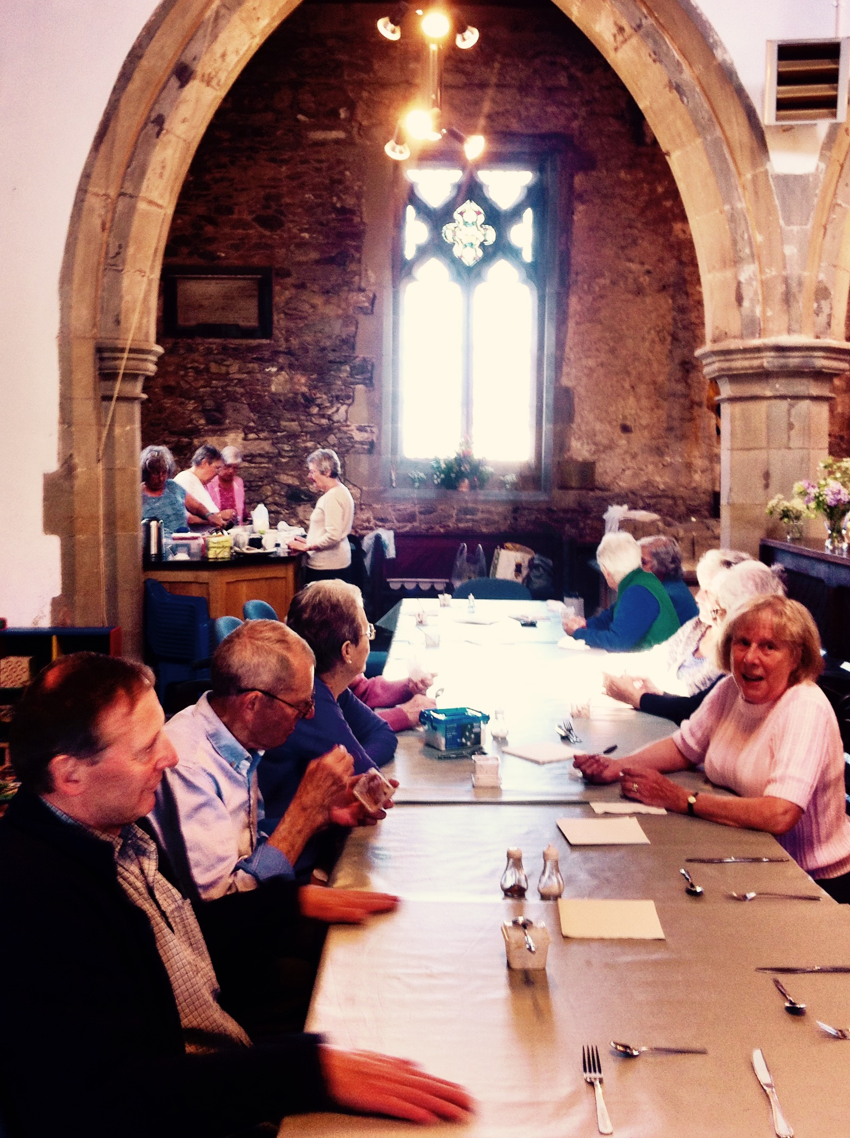 Belton parish church Leicestershire community lunch club - Paul Conneally May 2017